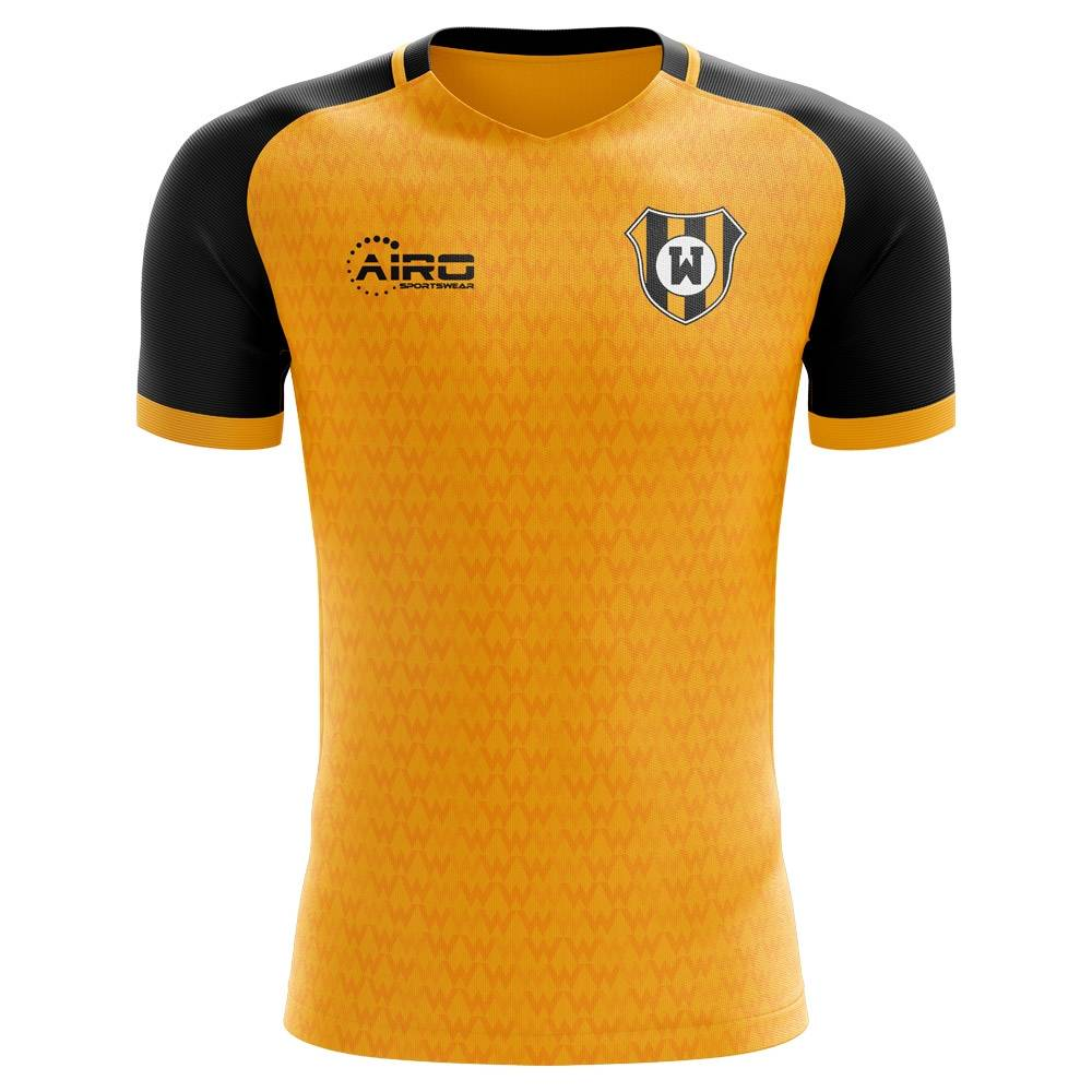 Airo Sportswear 2020-2021 Wolves Concept Training Shirt (Gold) - Womens - White - female - Size: Large - UK Size 14