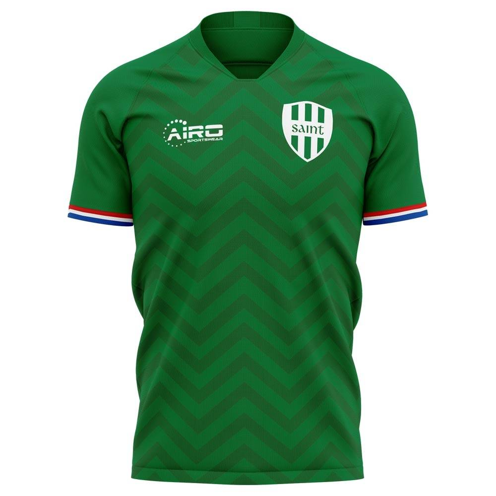 Airo Sportswear 2020-2021 Saint Etienne Home Concept Football Shirt - Womens - Blue - female - Size: Medium - UK Size 12