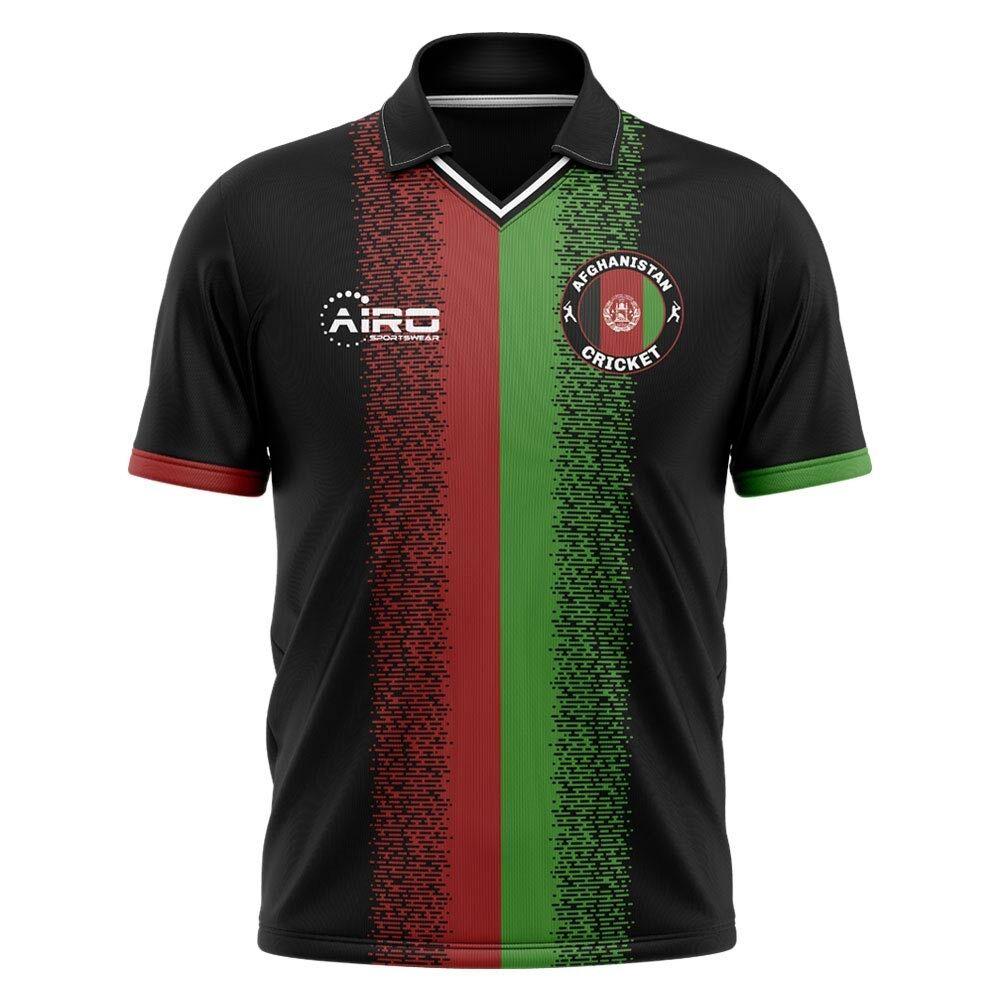 Airo Sportswear 2020-2021 Afghanistan Cricket Concept Cricket Shirt - Womens - Black - female - Size: Medium - UK Size 12
