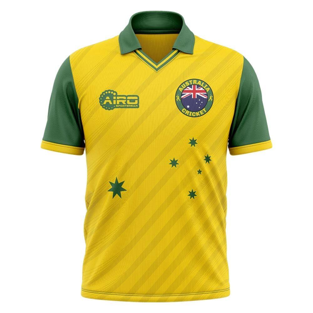 Airo Sportswear 2020-2021 Australia Cricket Concept Shirt - Womens - Black - female - Size: XS - UK Size 6/8