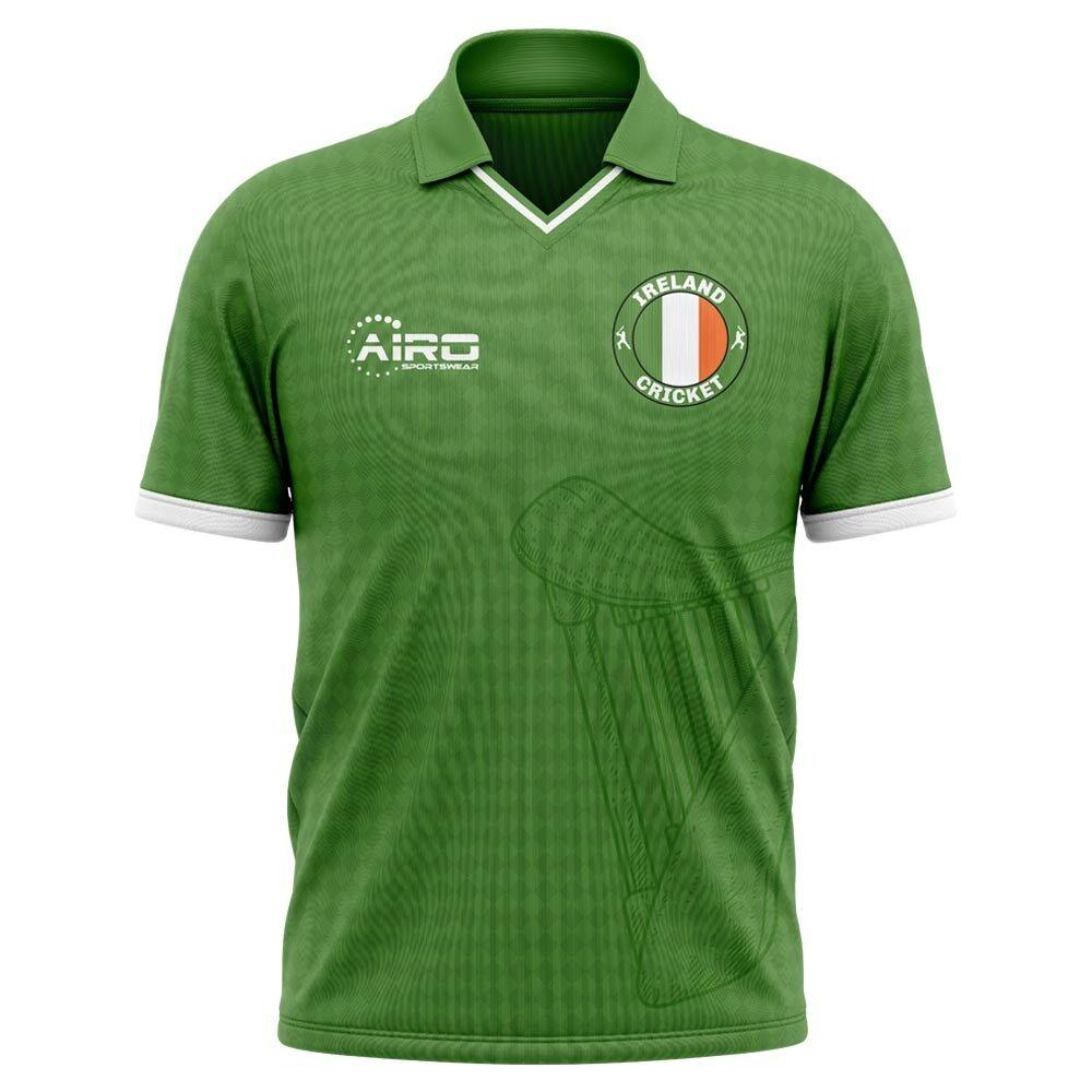 Airo Sportswear 2020-2021 Ireland Cricket Concept Shirt - Womens - Blue - female - Size: XL - UK Size 16