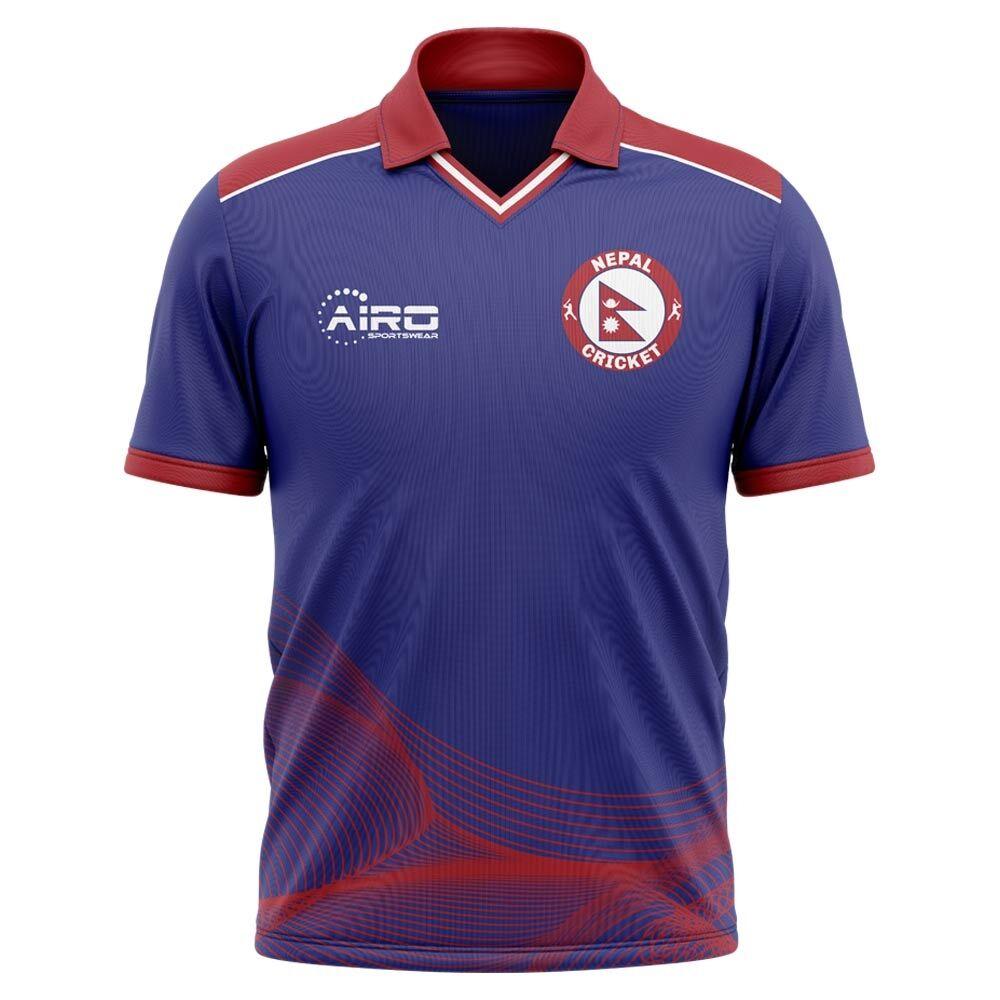 Airo Sportswear 2020-2021 Nepal Cricket Concept Shirt - Womens - Blue - female - Size: XS - UK Size 6/8