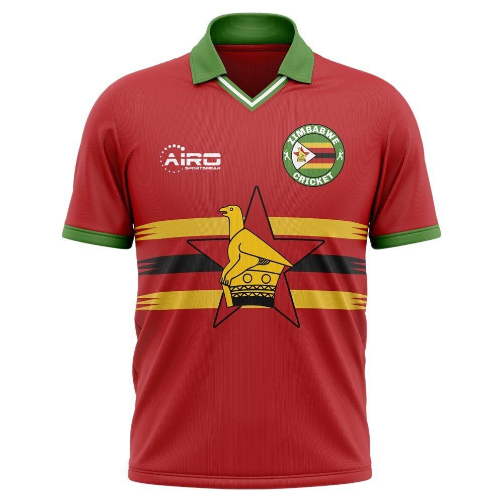 Airo Sportswear 2020-2021 Zimbabwe Cricket Concept Shirt - Womens - Blue - female - Size: XXL - UK Size 18