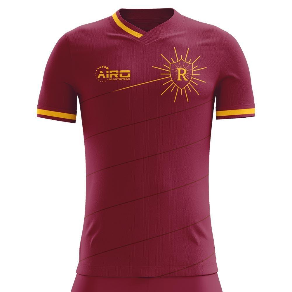Airo Sportswear 2020-2021 Roma Home Concept Football Shirt - Womens - White - female - Size: Large - UK Size 14