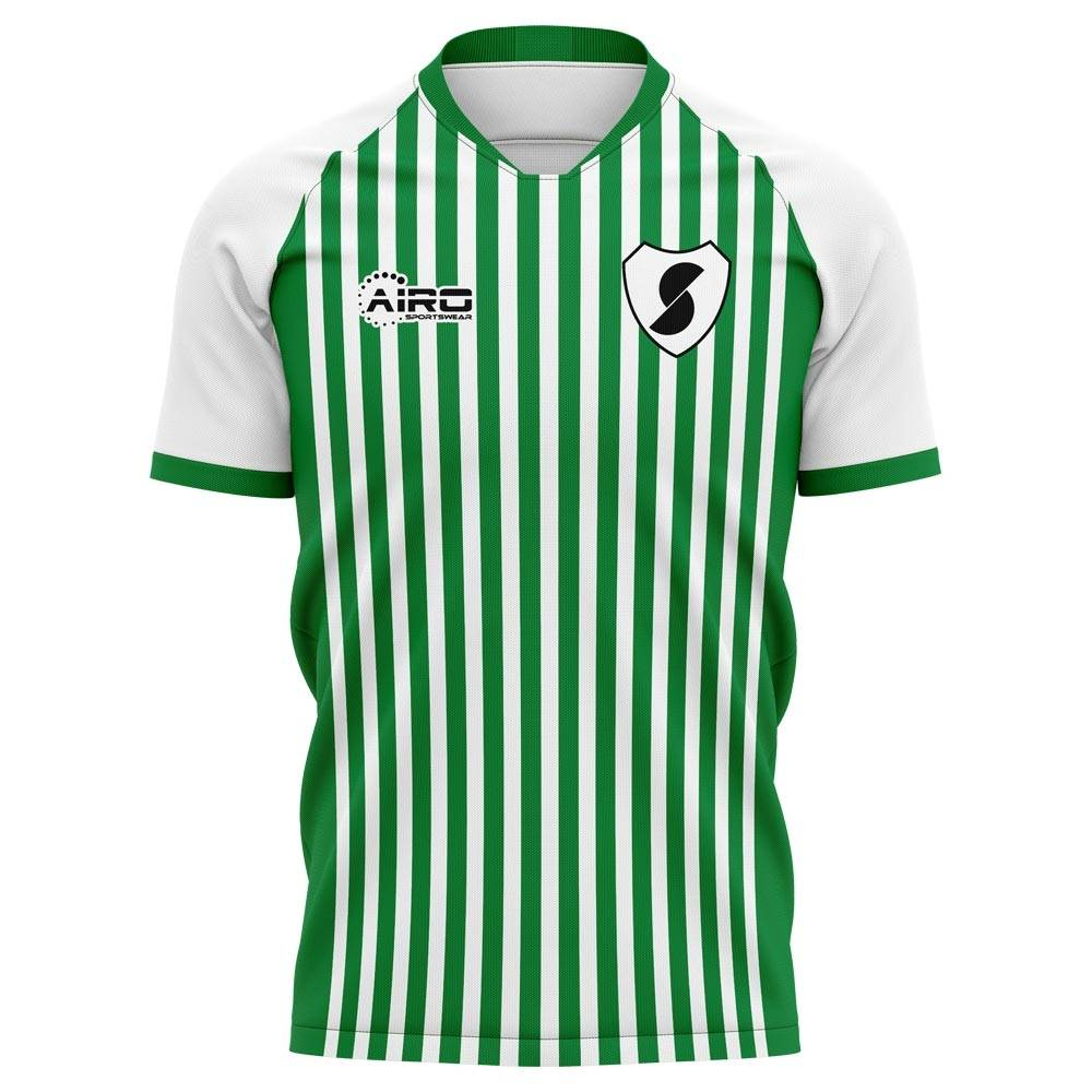Airo Sportswear 2020-2021 Racing Santander Home Concept Football Shirt - Womens - Yellow - female - Size: XL - UK Size 16