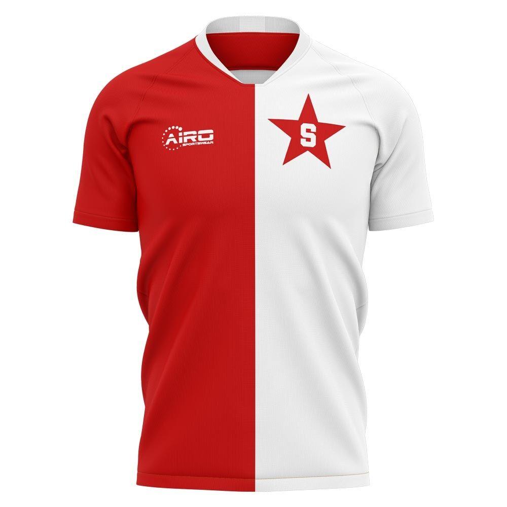 Airo Sportswear 2020-2021 Slavia Prague Home Concept Football Shirt - Womens - Yellow - female - Size: XS - UK Size 6/8