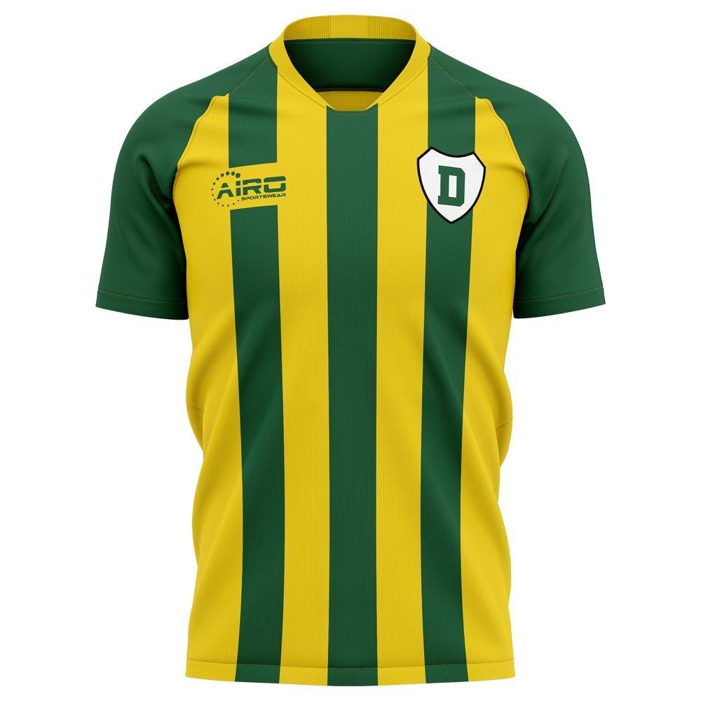 Airo Sportswear 2020-2021 Ado Den Haag Home Concept Football Shirt - Womens - Yellow - female - Size: Large - UK Size 14