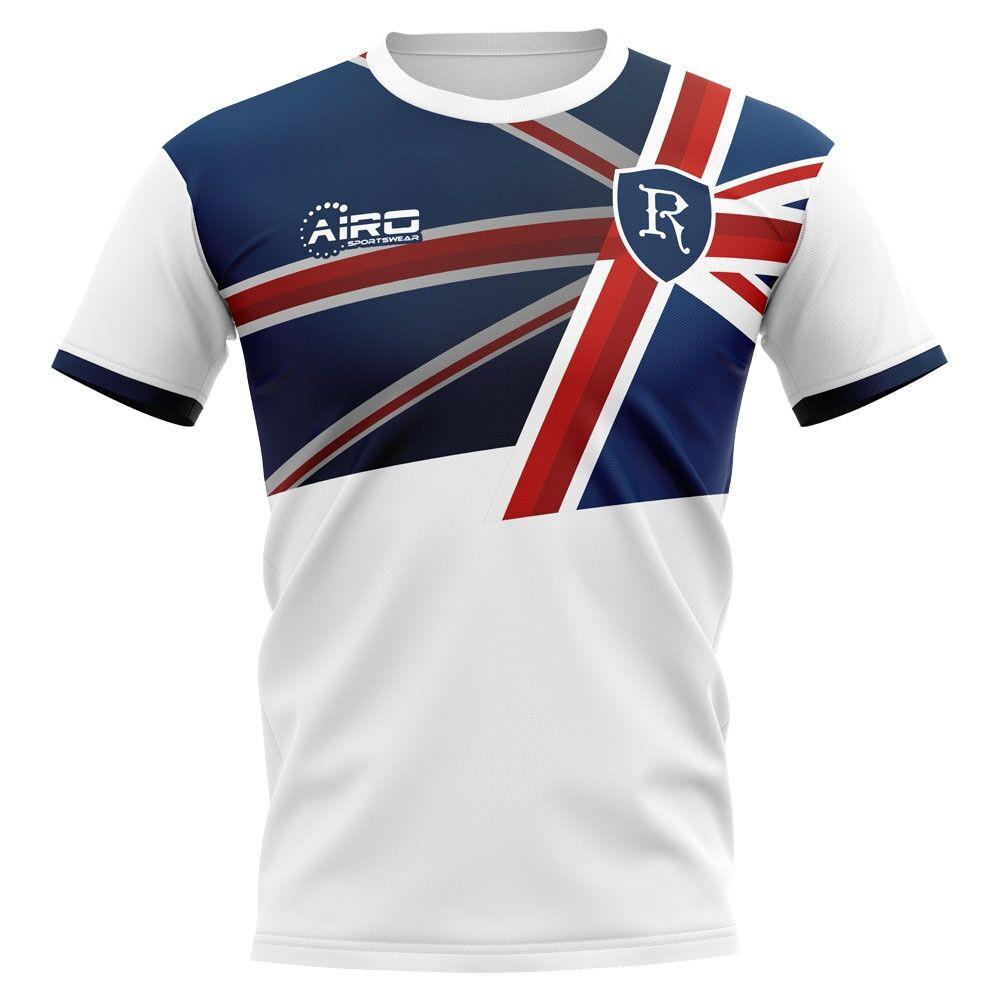Airo Sportswear 2020-2021 Glasgow Away Concept Football Shirt - Womens - Blue - female - Size: Large - UK Size 14