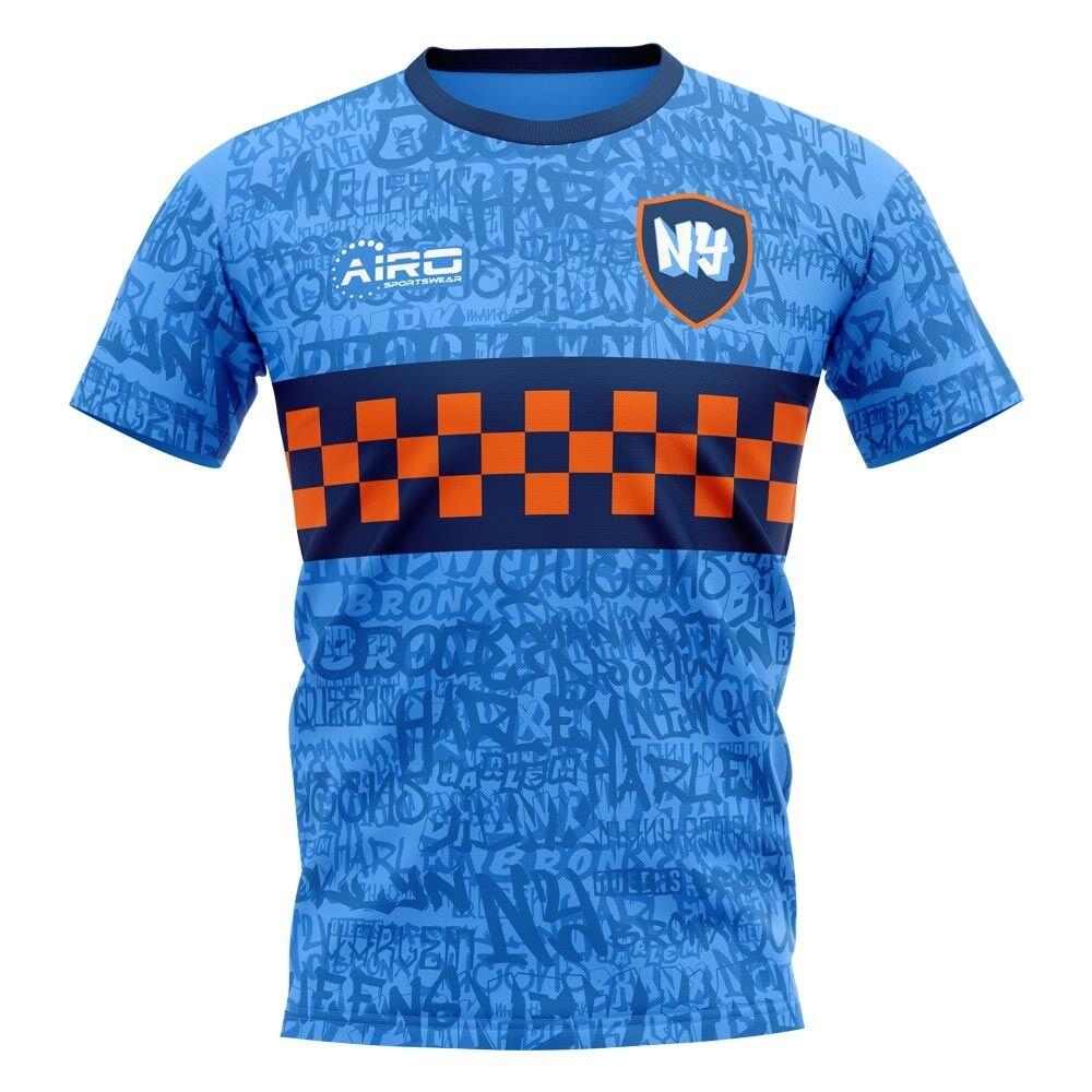 Airo Sportswear 2020-2021 New York Home Concept Football Shirt - Womens - Black - female - Size: Medium - UK Size 12