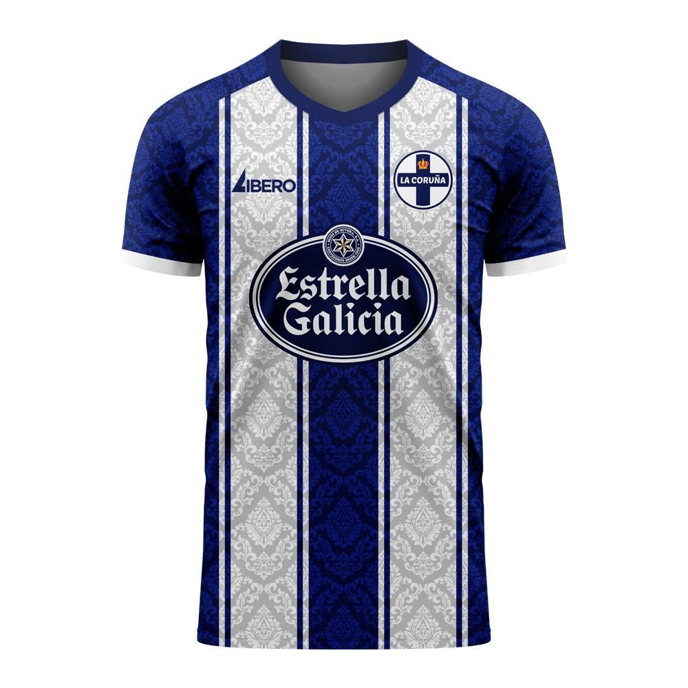 Libero Sportswear Deportivo La Coruna 2020-2021 Home Concept Football Kit (Libero) - Womens - White - female - Size: XXL - UK Size 18
