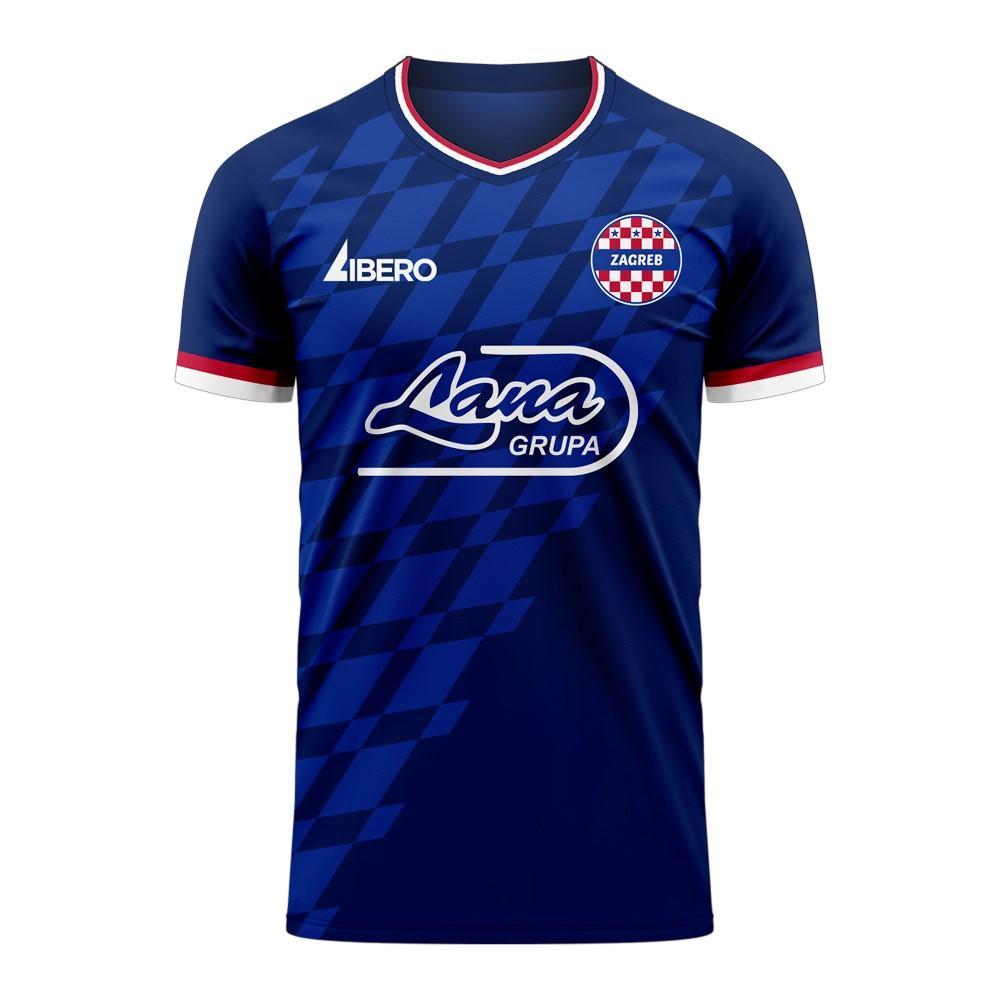 Libero Sportswear Dinamo Zagreb 2020-2021 Third Concept Football Kit (Libero) - Womens - Blue - female - Size: XS - UK Size 6/8