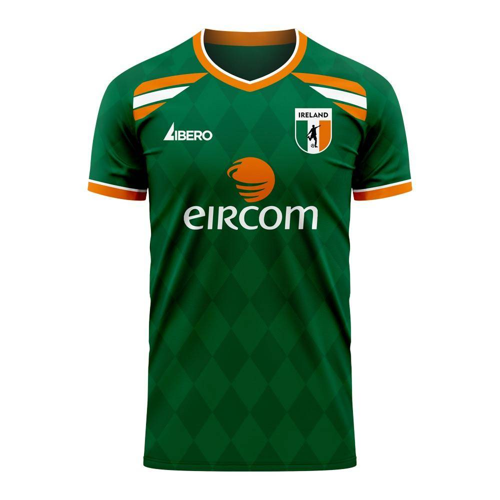 Libero Sportswear Ireland 2020-2021 Classic Concept Football Kit (Libero) - Womens - Green - female - Size: Medium - UK Size 12