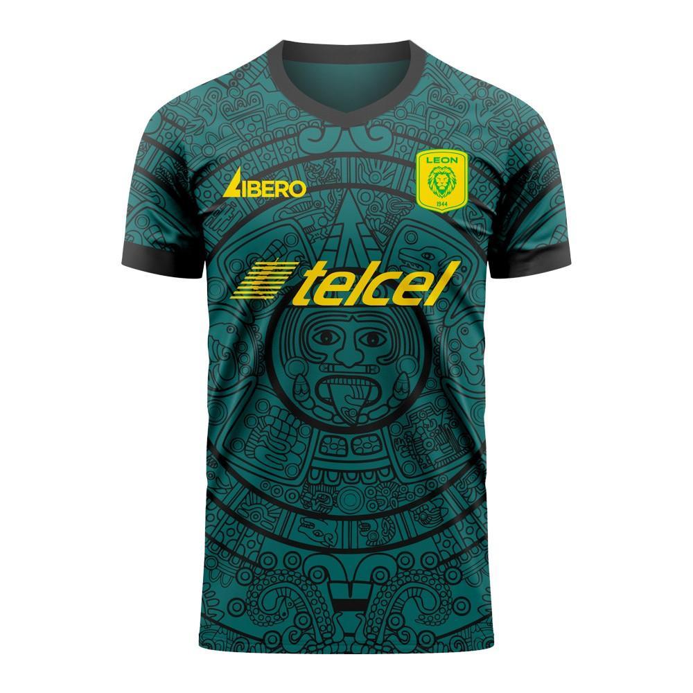 Libero Sportswear Club Leon 2020-2021 Home Concept Football Kit (Libero) - Womens - Green - female - Size: Large - UK Size 14