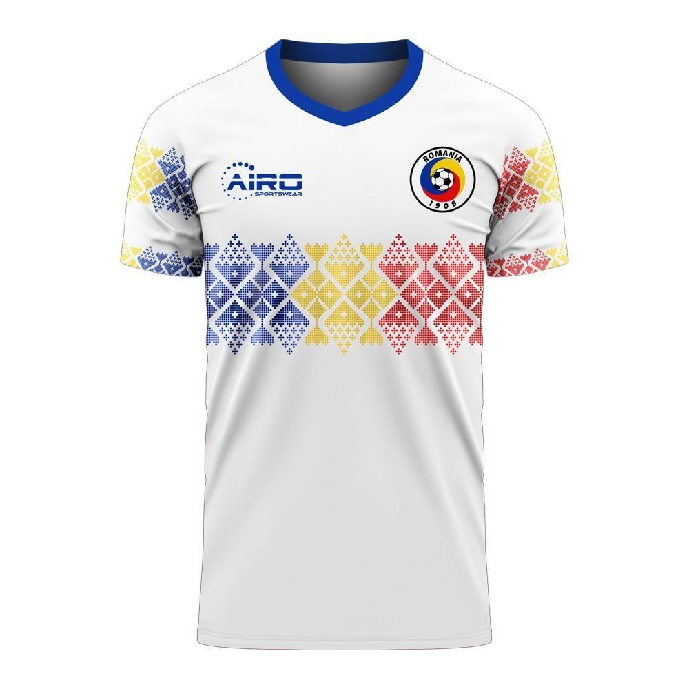 Libero Sportswear Romania 2020-2021 Away Concept Football Kit (Libero) - Womens - White - female - Size: Small - UK Size 10