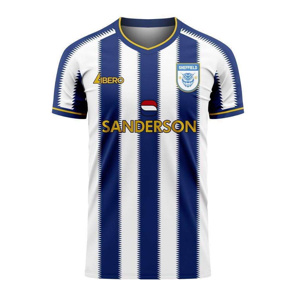 Libero Sportswear Sheffield 2020-2021 Home Concept Football Kit (Libero) - Womens - White - female - Size: XS - UK Size 6/8