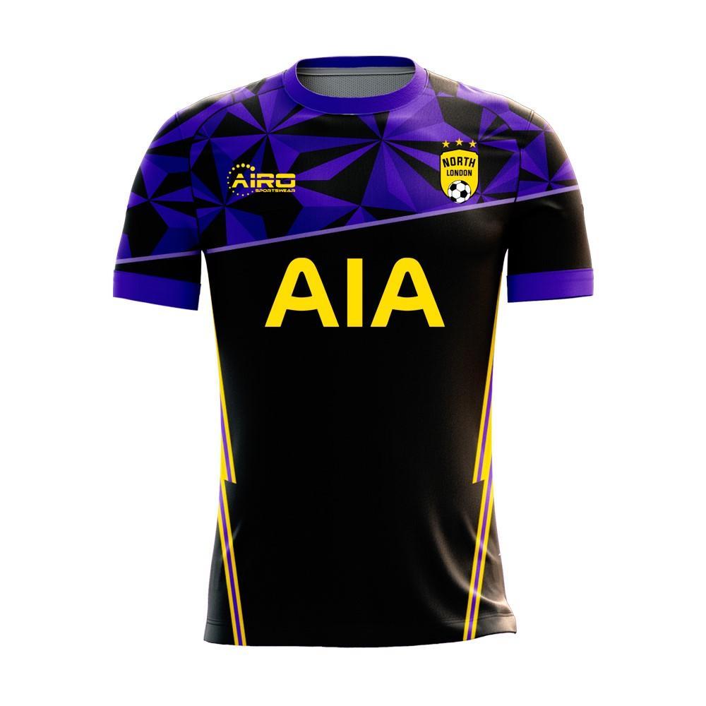 Airo Sportswear North London 2020-2021 Away Concept Football Kit (Airo) - Womens - Black - female - Size: Large - UK Size 14