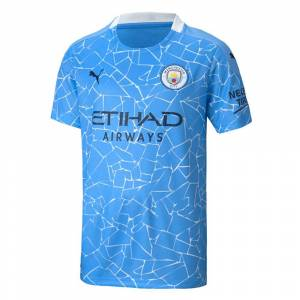 "Puma 2020-2021 Manchester City Puma Home Football Shirt (Kids) - White - male - Size: Medium Boys - 26-28\"" Chest"