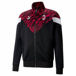 Puma 2020-2021 AC Milan Iconic MCS Graphic Jacket (Red) - Black - male - Size: Large Adults