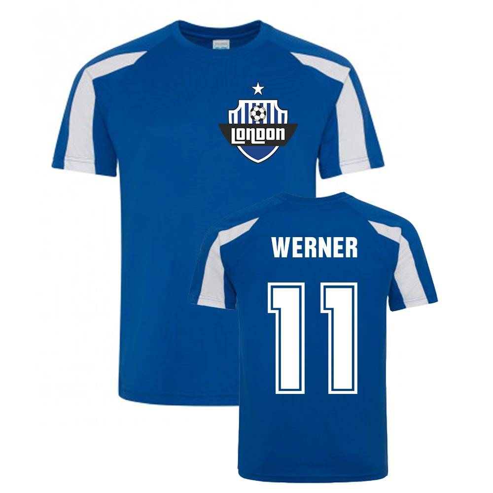 UKSoccershop Timo Werner Sport Training Jersey (Blue) - Blue - male - Size: XSB (3-4 Years)