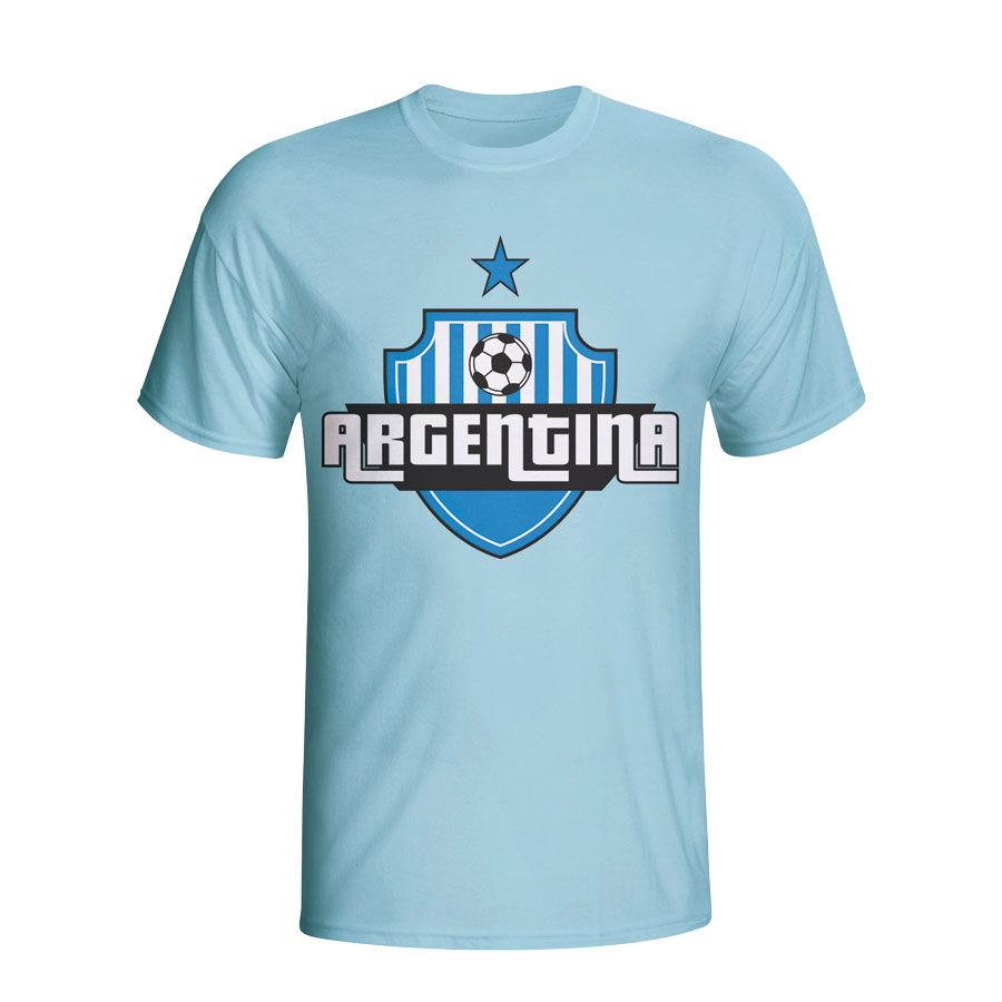 "Gildan Argentina Country Logo T-shirt (sky Blue) - Sky Blue - male - Size: Small (34-36\"")"