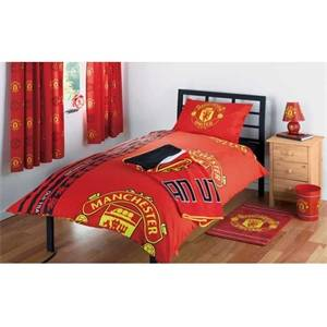 Taylor Manchester United FC Single Duvet Cover - White - male - Size: One Size