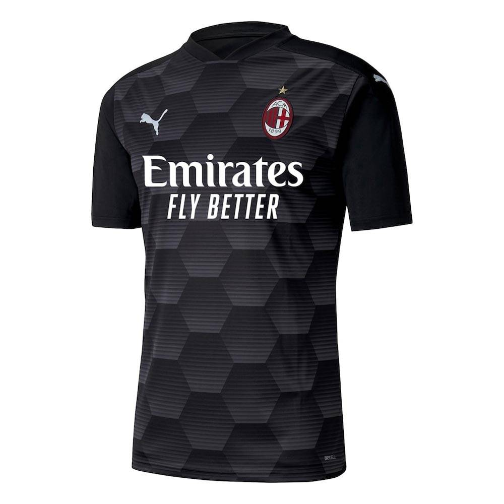 "Puma 2020-2021 AC Milan Goalkeeper Shirt (Black) - Kids - Black - male - Size: Medium Boys - 26-28\"" Chest"