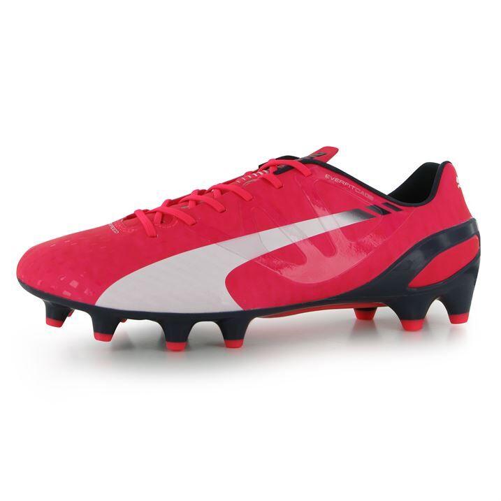 Puma evoSpeed 1.3 FG Mens Football Boots (Plasma) - Pink - male - Size: UK 9.5 (44 EU)