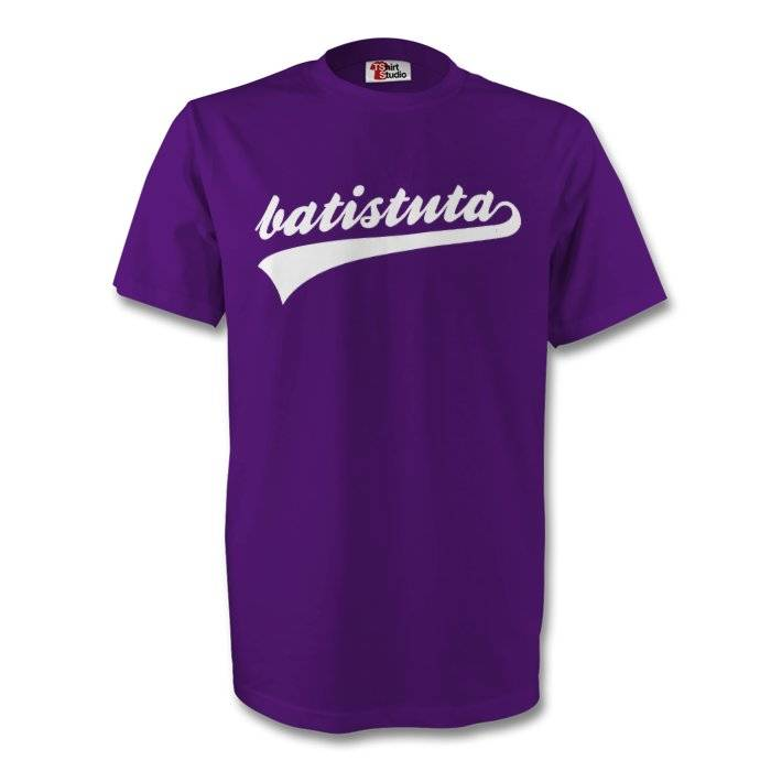 "Gildan Gabriel Batistuta Fiorentina Signature Tee (purple) - Purple - male - Size: Womens S (Size 10 - 32\"" Chest)"