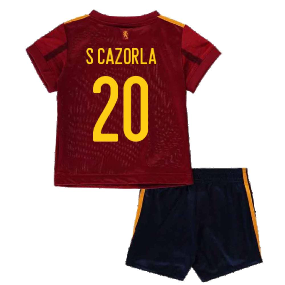 adidas 2020-2021 Spain Home Adidas Baby Kit (S CAZORLA 20) - Red - male - Size: 9-12 Months