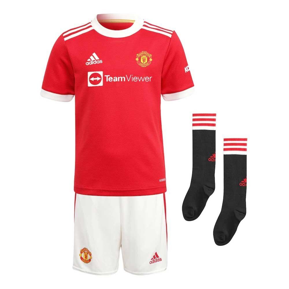 adidas Man Utd 2021-2022 Home Mini Kit - Red - male - Size: 2-3 Years