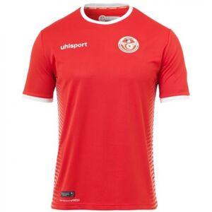 "Uhlsport 2018-2019 Tunisia Away Uhlsport Football Shirt - Red - male - Size: Large Adults - 42-44\"" Chest"