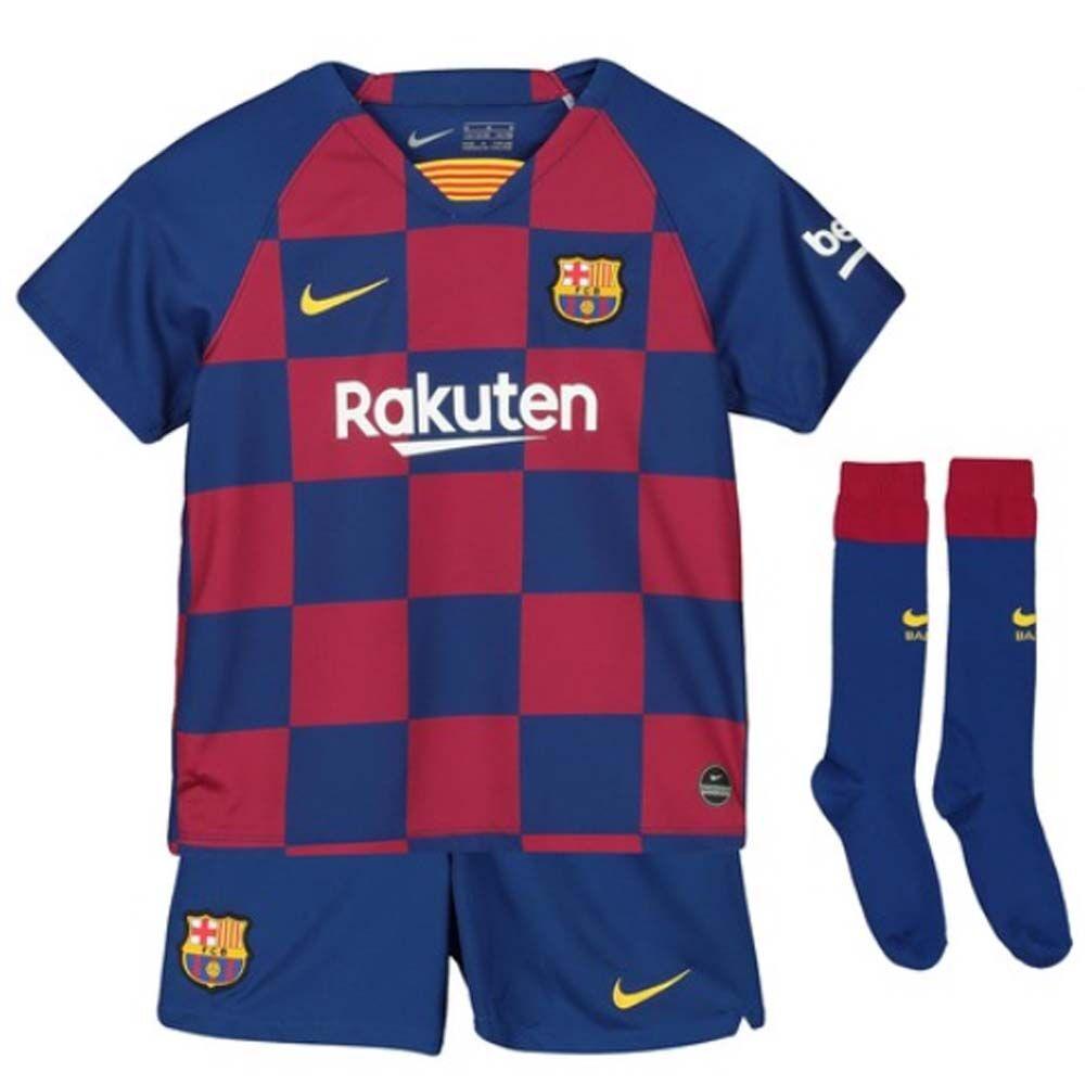 Nike 2019-2020 Barcelona Home Nike Little Boys Mini Kit - Red - male - Size: XSB 3/4yrs (98-104cm)