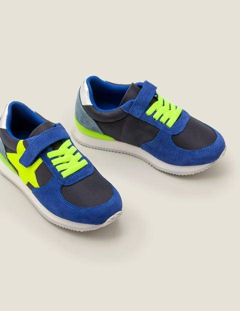 Mini Suede Trainers Blue Boys Boden  - Male - Blue - Size: 25