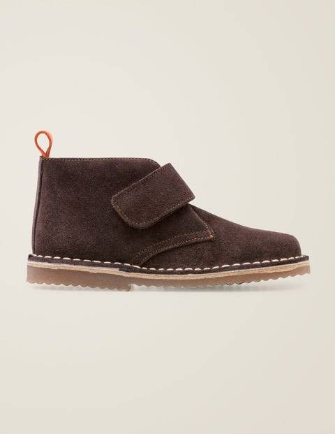 Mini Suede Desert Boots Brown Boys Boden  - Male - Brown - Size: 27
