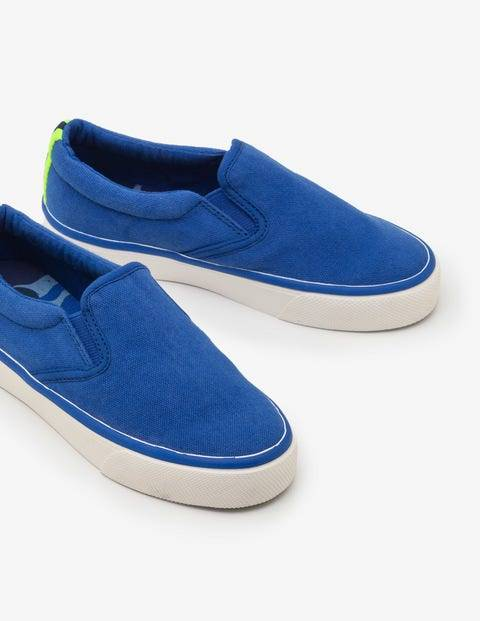 Mini Canvas Slip-ons Blue Boys Boden  - Male - Blue - Size: 26