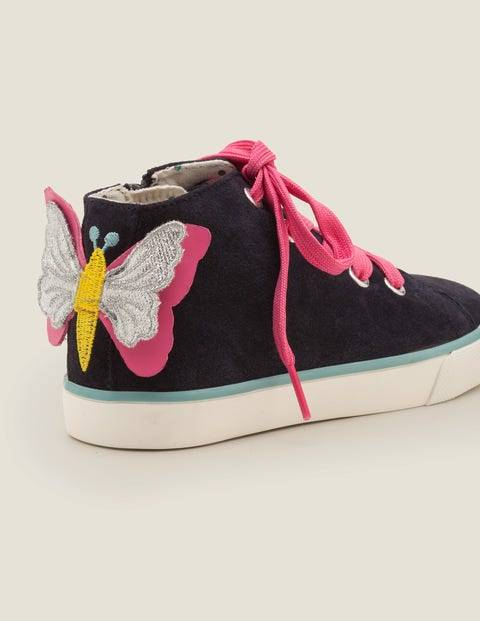 Mini High Tops Navy Girls Boden  - Female - Navy - Size: 38