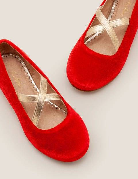 Mini Party Ballet Flats Red Girls Boden  - Female - Red - Size: 30