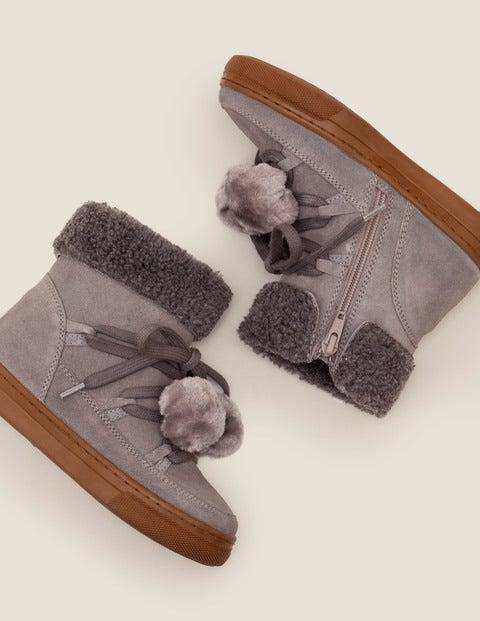 Mini Suede Cosy Boots Grey Girls Boden  - Female - Grey - Size: 39