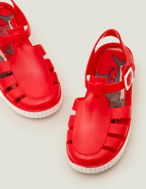Mini Jelly Shoes Red Boys Boden Sole Size: 30