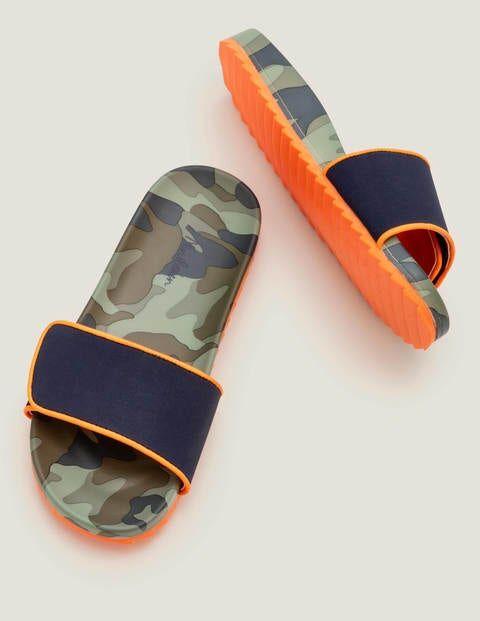 Mini Pool Slides Green Boys Boden Sole Size: 28