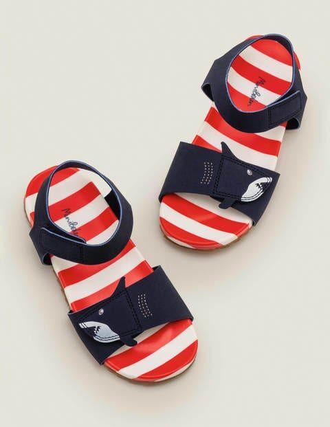 Mini Water Resistant Aqua Sandals Blue Boys Boden  - Male - Navy - Size: 28
