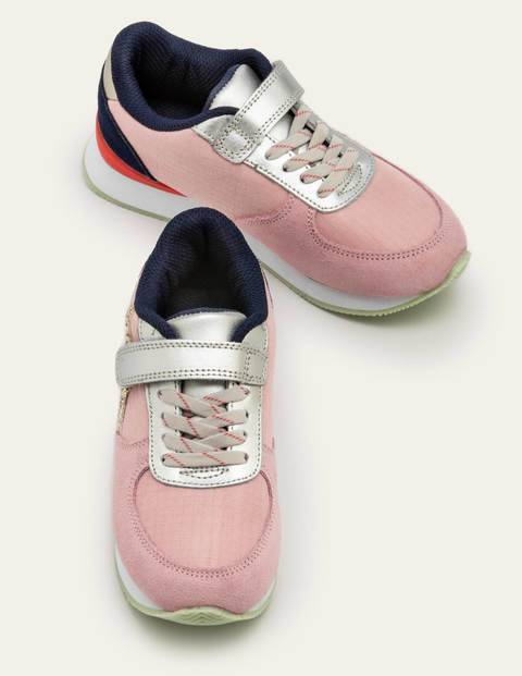 Mini Suede Trainers Pink Girls Boden Suede Size: 30