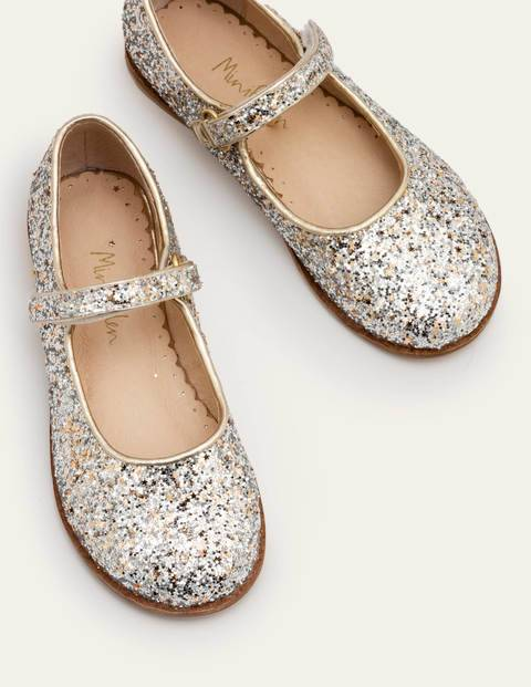 Mini Sparkle Mary Janes Metallic Girls Boden Leather Size: 26