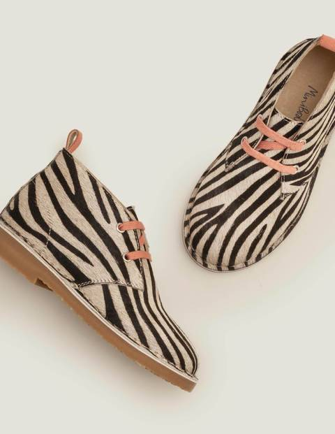 Mini Lace Up Desert Boots Black Girls Boden  - Female - Black - Size: 25
