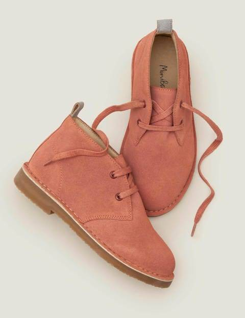 Mini Lace Up Desert Boots Pink Girls Boden  - Female - Pink - Size: 32