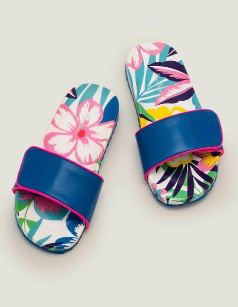 Mini Pool Slides Multi Girls Boden Sole Size: 32