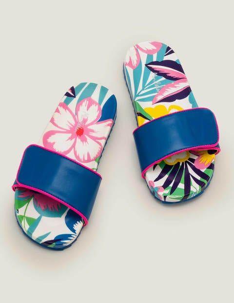 Mini Pool Slides Multi Girls Boden Sole Size: 29