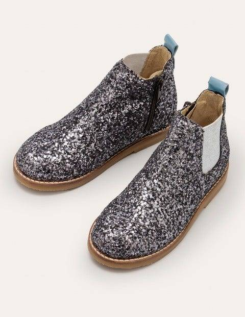 Mini Leather Chelsea Boots Metallic Girls Boden Leather Size: 28