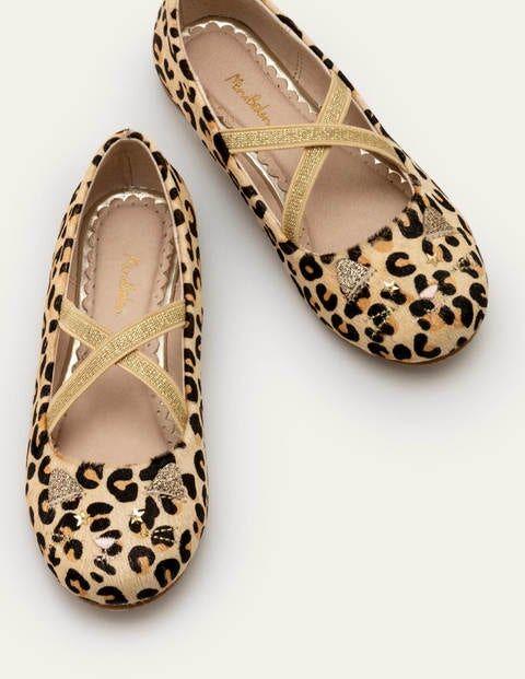 Mini Novelty Ballet Flats Brown Girls Boden Leather Size: 26