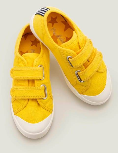 Mini Double Strap Canvas Shoes Yellow Boys Boden  - Female - yellow - Size: 34